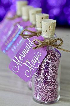 Amazon.com: Purple Under The Sea Mermaid Birthday Party Favors - Set of 10 Bottles: Handmade