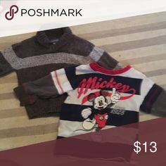 Warm shirts Mickey Mouse shirt, only worn 2X and sweater pullover. Disney Shirts & Tops Sweaters