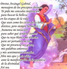 EL TALLER DE MI ANGEL: Divino ARCÁNGEL GABRIEL