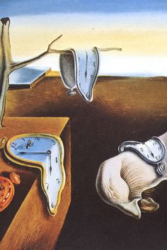 by Salvador Dali Spanish painter.~~~Persistence of Memory, by Salvador Dali tape to shrinky dink page. punch holes two holes in one side for a book. Make a book of famous art - colored by you. L'art Salvador Dali, Salvador Dali Paintings, Art Moderne, Surreal Art, Famous Artists, Love Art, Oeuvre D'art, Art History, Amazing Art