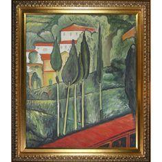 Amedeo Modigliani 'Landscape Southern France' Hand Painted Framed Art