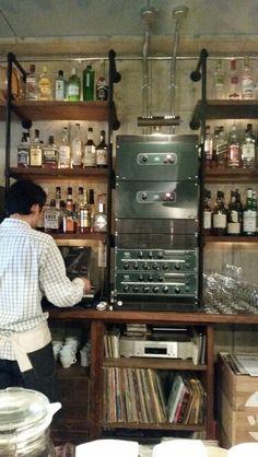 Old vinyl player in kobe, japan.