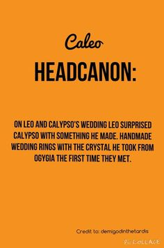 I so accept this! Caleo wedding