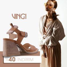 VINGI Kalın topuklu hakiki deri sandalet modern tasarımı ile her stile uyum sağlar. 🛍 %40 Sezon indirimi ile şimdi 239,40 TL. 📦 Ücretsiz kargo. 💳 Kredi kartına TAKSİT imkanı. 💰 Kapıda ödeme imkanı. Clogs, Fashion, Moda, Fasion, Trendy Fashion, La Mode