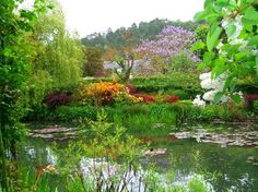 Giverny, France  View toward house from pond
