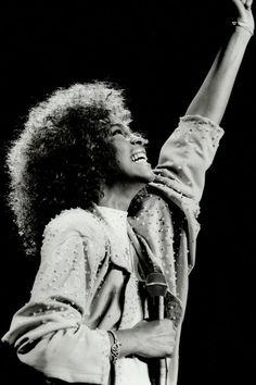 Whitney Houston in Canada on Aug.22, 1986.
