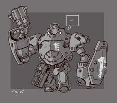 Mecha Sketch 10 by cwalton73 ★ || CHARACTER DESIGN REFERENCES (https://www.facebook.com/CharacterDesignReferences & https://www.pinterest.com/characterdesigh) • Love Character Design? Join the #CDChallenge (link→ https://www.facebook.com/groups/CharacterDesignChallenge) Share your unique vision of a theme, promote your art in a community of over 30.000 artists! || ★