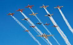 An air show in Johannesburg South Africa
