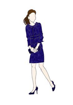 "Royal Tour Australia Duchess of Cambridge Kate Middleton Fashion Print 8.5""x11"" Rebecca Taylor"