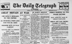 The Daily Telegraph 160th Anniversary. September 4, 1939: Britain's declaration of war with Germany marks the start of the Second World War