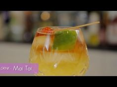 Get tropical with this recipe for the popular mixed drink known as the Mai-Tai. Made with light rum, dark rum and fruit juice - you'll feel like you're on vacation while sipping on this cocktail.