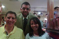 Almoçando com meus amigos Apóstolo Sérgio Sora e sua esposa Danielle.
