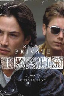 """""""My Own Private Idaho"""" (dir. Gus Van Sant, 1991) --- Surreal character study focusing on the friendship between two male hustlers, Mike Waters (River Phoenix) and Scott Favor (Keanu Reeves), in Portland, Oregon. They live on the streets, do drugs, and sell themselves to men and women. The gay Mike is in love with straight Scott, who rebuffs his advances. Together they travel to Idaho in search of Mike's mother."""