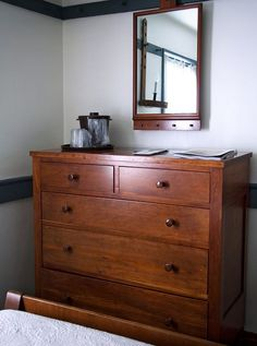 Shaker chest of drawers, Shaker Village, Pleasant Hill, Kentucky by lumierefl… Modern Bedroom Furniture, Funky Furniture, Shabby Chic Furniture, Furniture Making, Home Furniture, Furniture Design, Furniture Ideas, Colonial Furniture, Plywood Furniture
