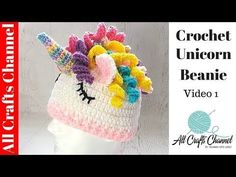 This Easy Crochet Unicorn Hat / Beanie can be made in no time at all. It is super fast and easy to make and looks great. Uses basic stitches and techniques