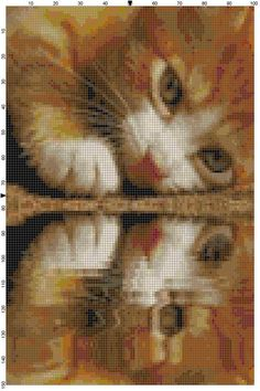 Cross Stitch Pattern Golden Kitty by theelegantstitchery on Etsy, $15.00
