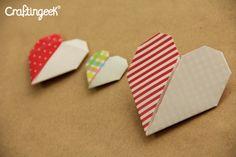 Decoraciones de amor: Corazon de papel de 2 colores