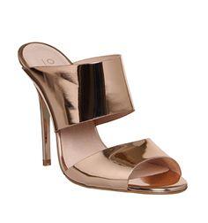 Office Promise Skinny Heel Mule Rose Gold - High Heels