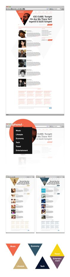 xylophonia� Media Communication Agency UK by Hypercube , via Behance    View more on: http://www.agence-web-lausanne.com