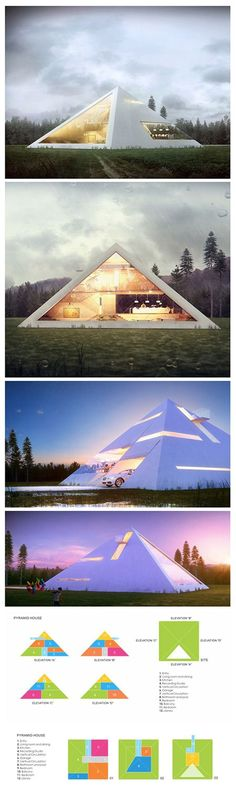We\'ve seen our fair share of unique modern home designs like the box-shaped metallic house or the abstract fortress made of concrete, but Mexican architect Juan Carlos Ramos has taken on a form less-visited for his aptly titled project Pyramid House—a conceptual pyramid-shaped home created and submitted as a proposal for a recent architecture competition. The simple geometric shape creates a clean aesthetic, while remaining extremely eye-catching due to its iconic though rarely applied for…