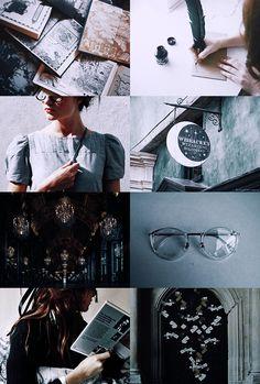 "Ravenclaw aesthetic 1/2  ""wit beyond measure is mans greatest treasure"""