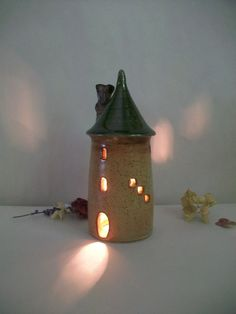 Tower, Fairy House - Handmade, Wheel Thrown