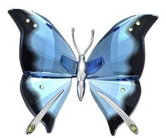 Retired Swarovski Crystal Figurine Butterfly