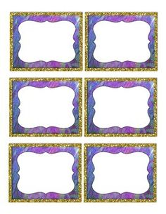 This is a cute set of gold colored glitter framed printable classroom labels.