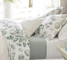 Freeport Shell Organic Duvet Cover And Sham - tropical - duvet covers - Pottery Barn Modern Outdoor Furniture, Home Furniture, Organic Duvet Covers, Stylish Beds, House Beds, House 2, King Beds, Pottery Barn, Bedding Sets