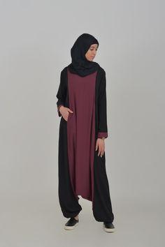 jilbab 2 pi ces poches ad dayyin via abaya pas cher jilbeb poches robe de maison. Black Bedroom Furniture Sets. Home Design Ideas
