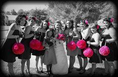 pink and black wedding