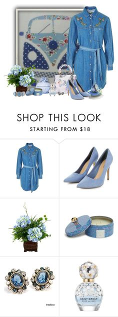 """""""vestido de jeans"""" by sil-engler ❤ liked on Polyvore featuring Topshop, Christian Dior, Ananas, Vera Bradley, Sweet Romance, Marc Jacobs and Chico's"""