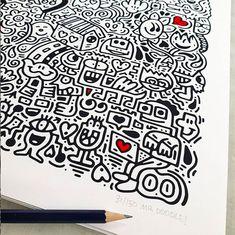 Doodle, un gran exponente del Graffiti Spaghetti Doodle Art Drawing, Art Drawings, Graffiti Doodles, Sketch Notes, Vape Juice, Empty Wall, Shoe Art, Journalling, Wall Prints