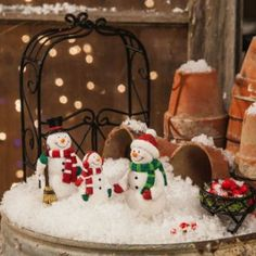 Snowman miniatures, set of 3 :: GIFTS :: HOME :: Home