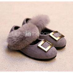 Girl's Flats Comfort Leather Casual Black / Gray / Burgundy / Khaki
