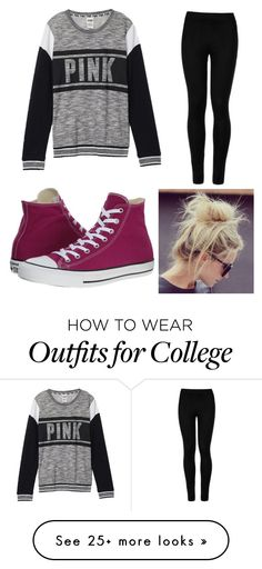 """Untitled #33"" by kelsie-shideler on Polyvore featuring Converse, Victoria's Secret and Wolford"
