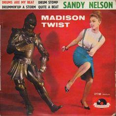"Sandy Nelson RARE France EP 7"" Madison Twist"
