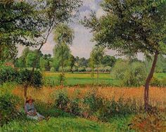 Morning, Sun Effect, Eragny - Camille Pissarro