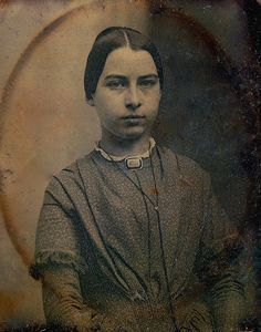 Teen Wearing a Mourning Brooch, 1/6th-Plate Daguerreotype, Circa 1850