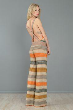 pink and black wide leg jumpsuit | Missoni Backless Zigzag Stripe Wide Leg Jumpsuit | BUSTOWN MODERN