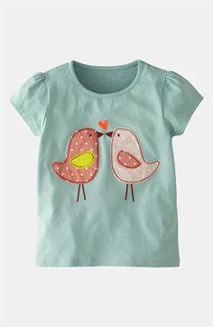 Camiseta con apliques de pajaritos