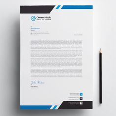 Business Thank You Letter Free Letterhead Design, Letterhead Design Inspiration, Company Letterhead Template, Letterhead Business, Certificate Design Template, Graphic Design Brochure, Packaging Design Inspiration, Business Card Design, Creative Business