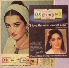 Vintage Lux Ads: The Beauty Soap of The Film Stars Vintage Advertisements, Vintage Ads, Vintage India, Lux Ad, Hypnotize Yourself, Bollywood Pictures, Beauty Soap, Vintage Bollywood, Old Ads