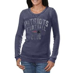 Patriots Ladies long sleeve gray