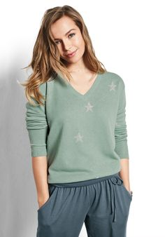Starbright V Neck Jumper by hush