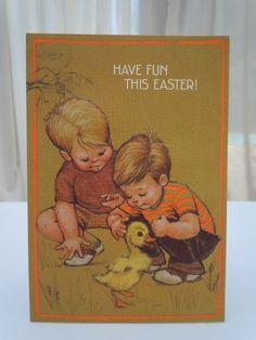 Vintage 70's Hallmark Easter card