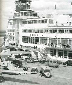 Dublin Airport Dublin Airport, Dublin City, Old Pictures, Old Photos, Images Of Ireland, Photo Engraving, Ireland Homes, Art Deco Buildings, Irish Celtic