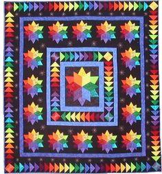 Spectrum quilt pattern by Virginia Robertson