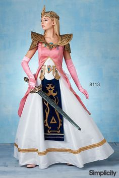 Make a beautiful warrior princess costume with Simplicity pattern 8113! The pattern also includes instructions for craft foam armor, belt and crown.