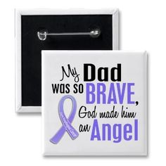 Angel 1 Dad Esophageal Cancer Buttons